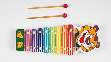 Деревянный ксилофон с 2 палочками.B312.Тигренок