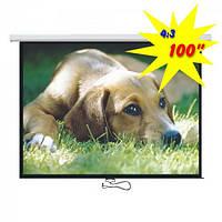 """Экран для проектора 100""""(200х150см) LOGAN PRM3, фото 1"""