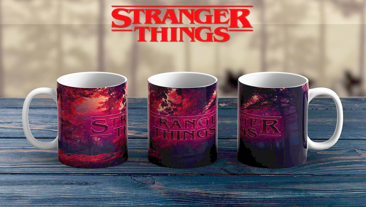 Чашка Очень странные дела / Stranger Things огненная