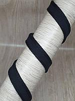 Корсетная лента 11 мм черная
