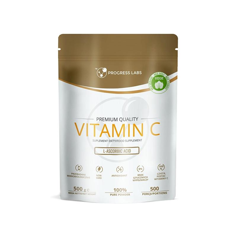 Витамин Ц PROGRESS LABS - Vitamin C 1000mg (L-Ascorbic ACID) - 500g