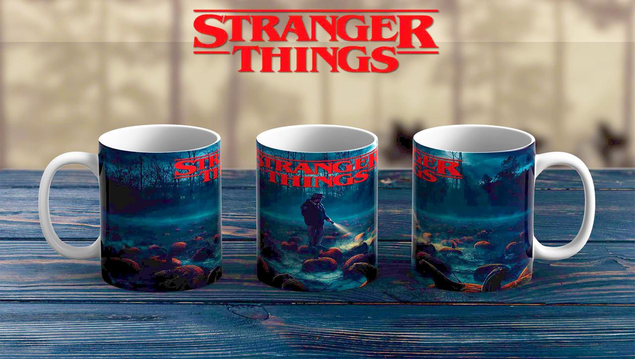 Чашка Очень странные дела / Stranger Things синяя