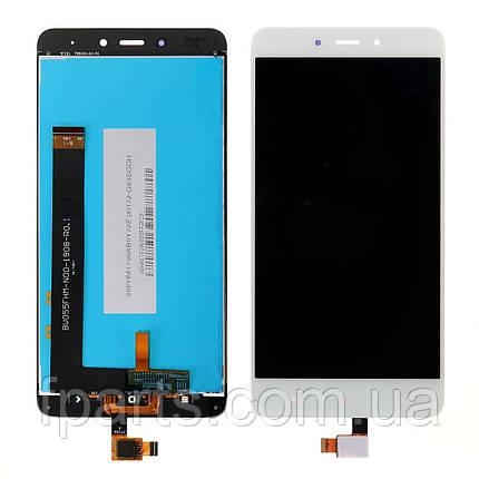 Дисплей для Xiaomi Redmi Note 4 с тачскрином, White (AAA), фото 2