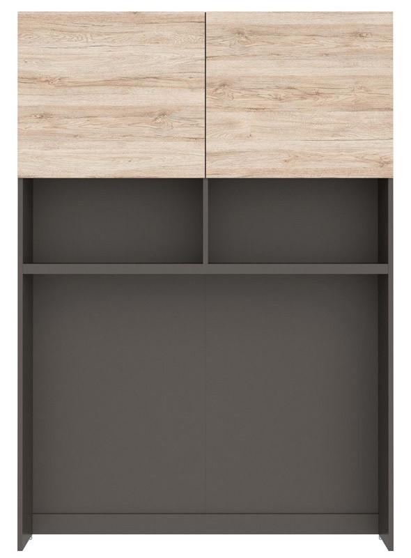 Надставка Моден NAD_2D/120 серый вольфрам/дуб санремо