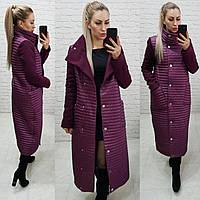 Куртка - пальто, арт 138, цвет сливовый