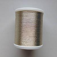 Нитки для машинной вышивки   Madeira Metallic  №40.  цвет 4022 ( Белое Золото).   1000 м, фото 1