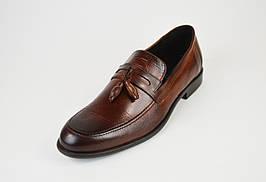 Лоферы мужские кожаные коричневые Tapi 6361