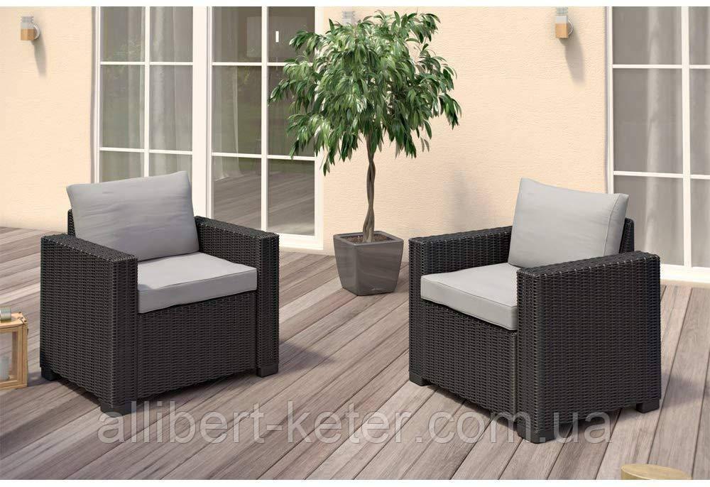 Набор садовой мебели California Duo Set из искусственного ротанга