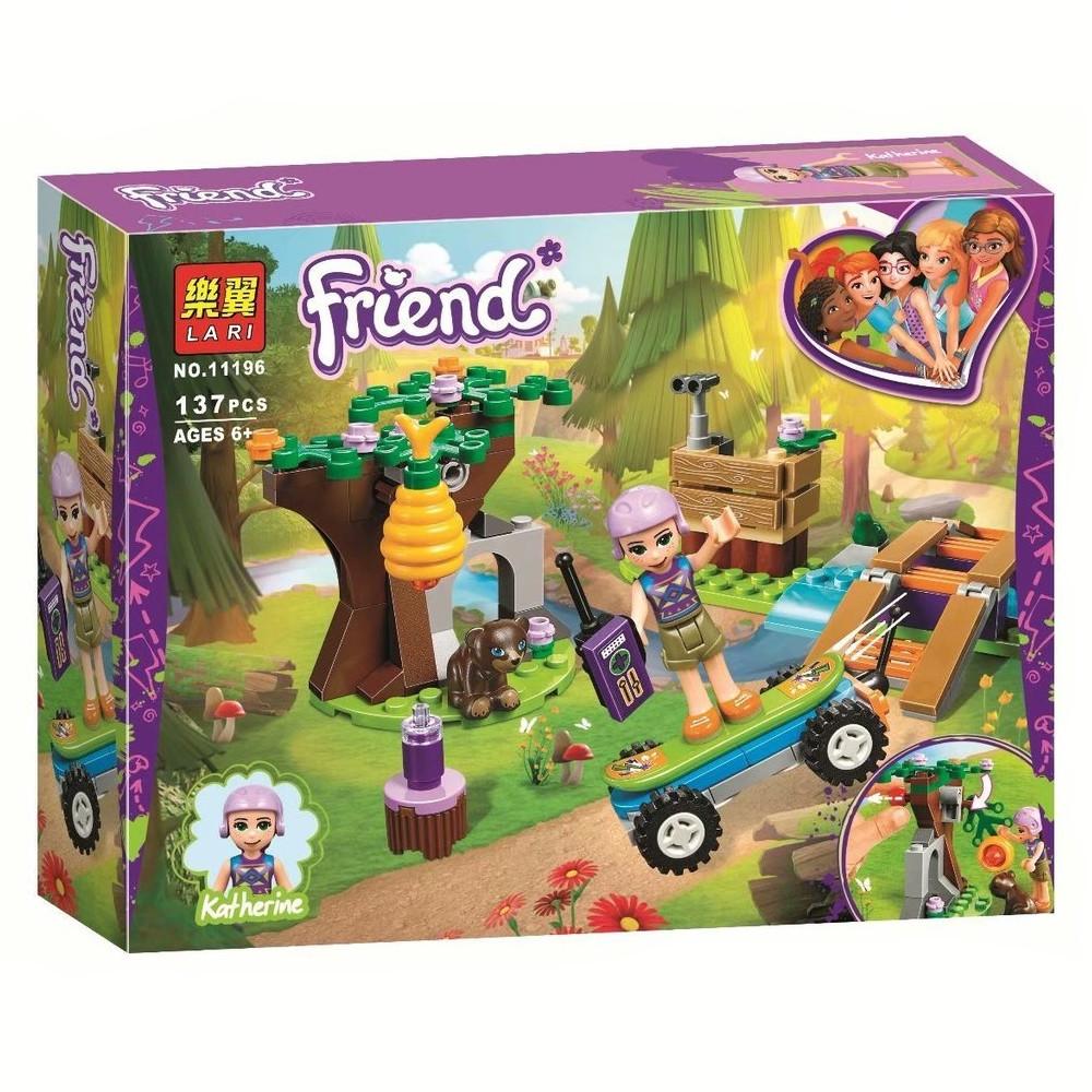 """Конструктор Bela (Lari) 11196 """"Приключения Мии в лесу"""" (аналог Lego Friends 41363), 137 дет"""