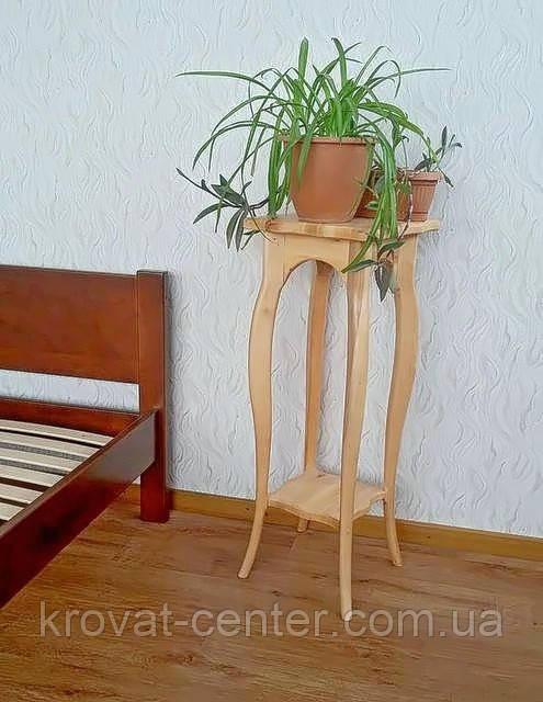 """Подставка для цветов из дерева """"Азалия"""" (ольха)"""