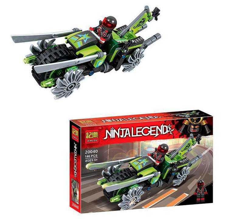Конструктор для хлопчика Швидкісний байк Jemlou Ninja Legend 20040