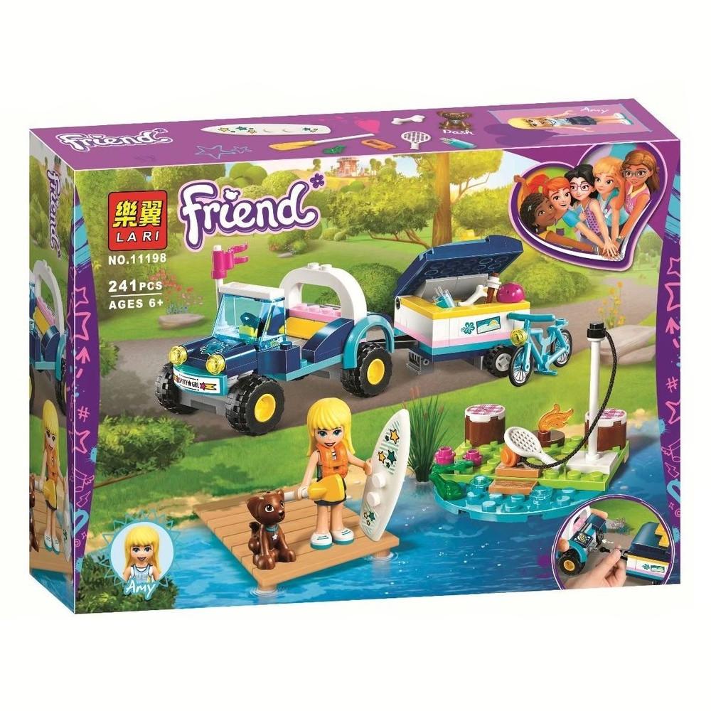 """Конструктор Bela (Lari) 11198 """"Багги с прицепом Стефани"""" (аналог Lego Friends 41364), 241 дет"""