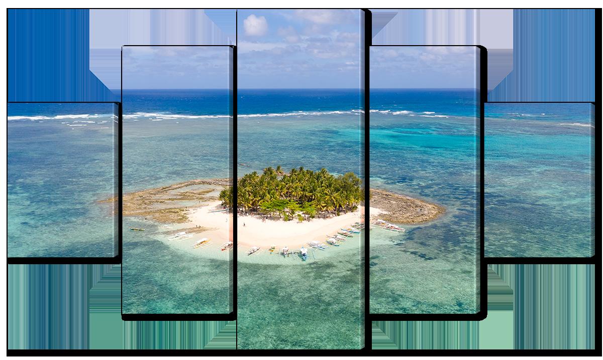 Модульная картина Interno Эко кожа Одинокий остров 158х90см (A3868XL)