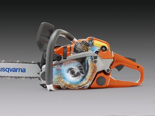 Инерционная очистка воздуха бензопилы Husqvarna 365