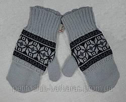 Рукавиці з мітенками Balladyna для дівчинки сірі (MargotBis, Польща)