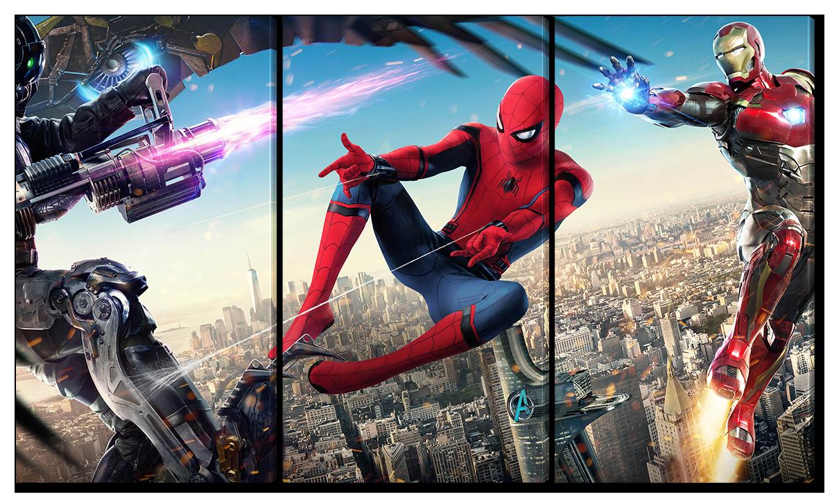 Модульная картина Interno Холст Человек паук, Мстители 84х47см (R3876S)