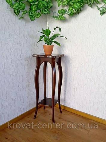 """Подставка для цветов из дерева """"Азалия"""" (каштан №11), фото 2"""