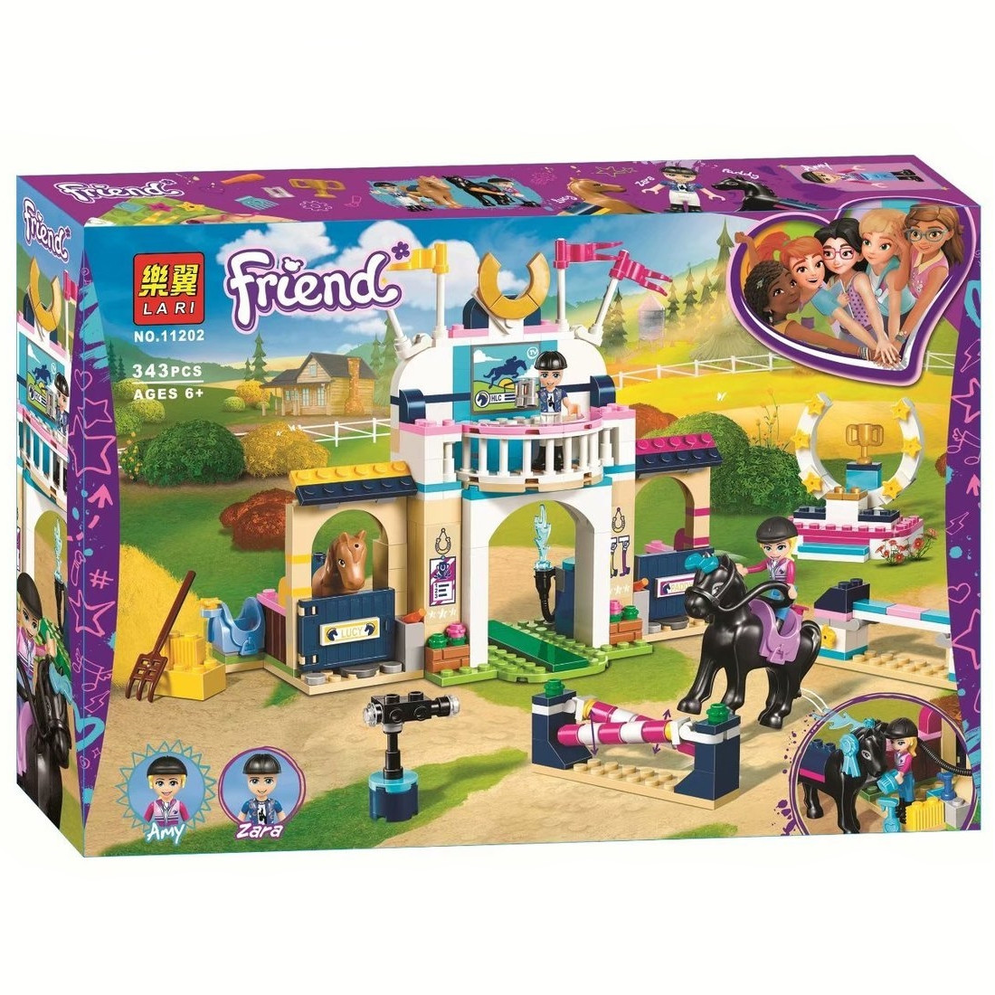 "Конструктор Bela (Lari) 11202 ""Стефані на скачках"" (аналог Lego Friends 41367), 343 дет"
