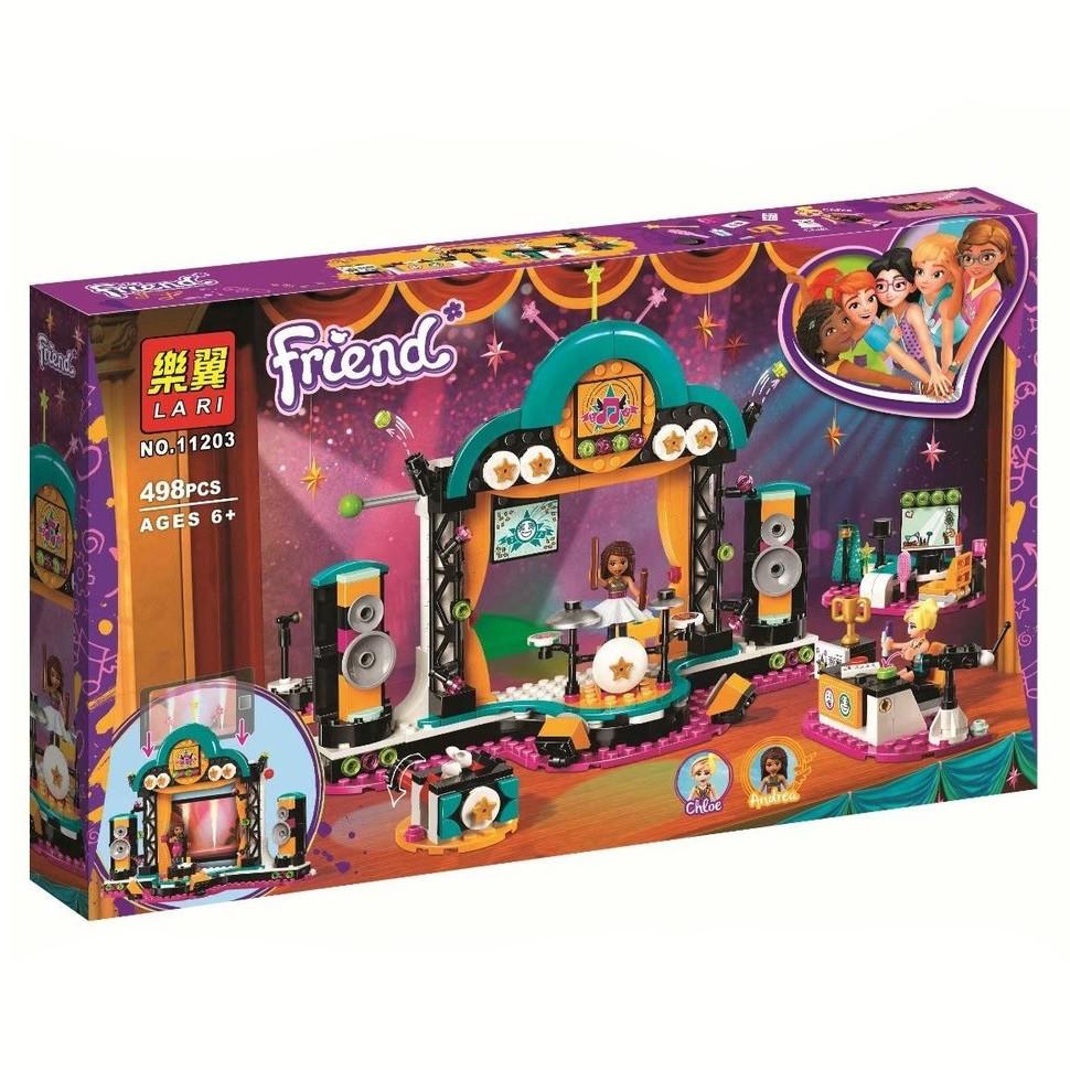 """Конструктор Bela (Lari) 11203 """"Шоу талантов"""" (аналог Lego Friends 41368), 498 дет"""