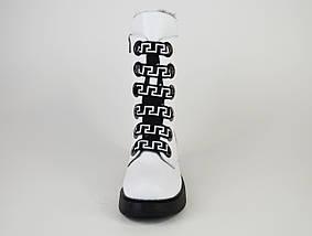 Ботинки белые зимние Evromoda 1421100, фото 3