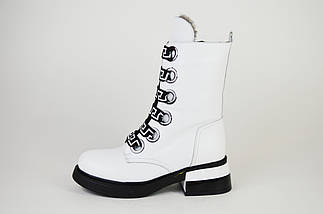 Ботинки белые зимние Evromoda 1421100, фото 2