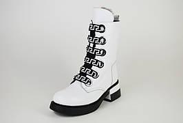 Ботинки белые зимние Evromoda 1421100