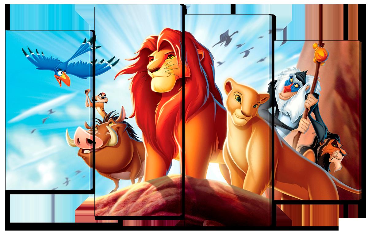 Модульная картина Interno Холст Король Лев 114x69см (R3903M)
