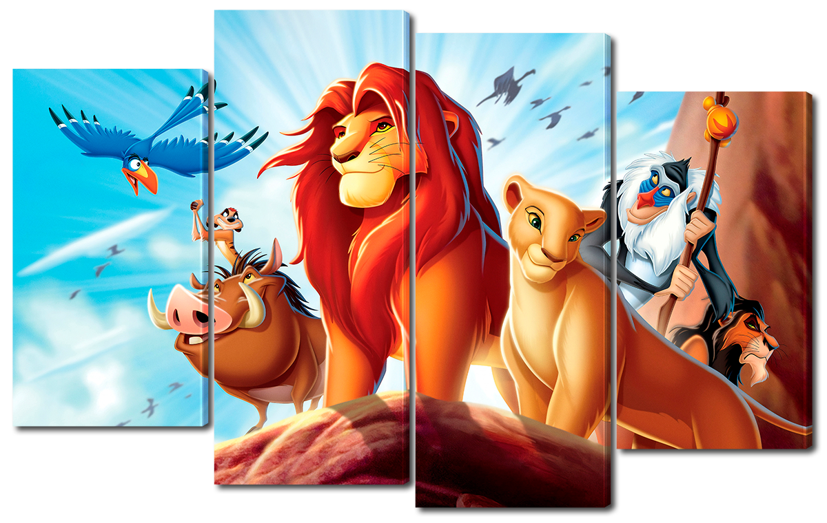 Модульная картина Interno Холст Король Лев 126x77см (R3903L)