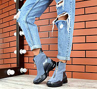 Модные женские ботинки весна-осень кожа+замша TOPs2054