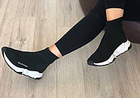 Женские кроссовки чулок черные Баленсиага