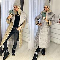 Куртка женская длинная двухсторонняя 42-46 рр. цвета разные