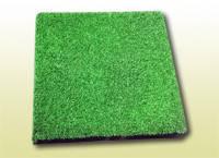 Резиновая плитка с искусственной травой МИАН