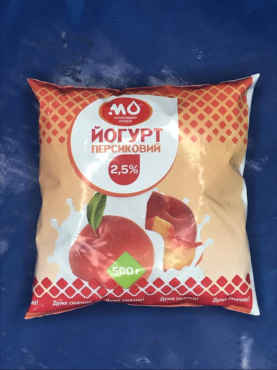 Йогурт персиковый от Малороганский молочный завод