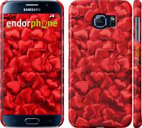 """Чехол на Samsung Galaxy S6 G920 Атласные сердца """"737c-80"""""""
