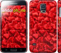 "Чехол на Samsung Galaxy S5 Duos SM G900FD Атласные сердца ""737c-62"""