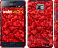 "Чехол на Samsung Galaxy S2 Plus i9105 Атласные сердца ""737c-71"""