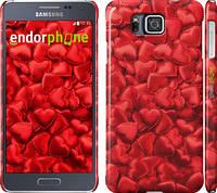 """Чехол на Samsung Galaxy Alpha G850F Атласные сердца """"737c-65"""""""