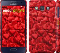 """Чехол на Samsung Galaxy A3 A300H Атласные сердца """"737c-72"""""""