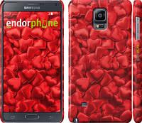 """Чехол на Samsung Galaxy Note 4 N910H Атласные сердца """"737c-64"""""""