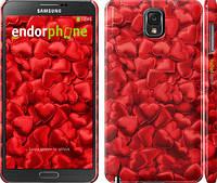 "Чехол на Samsung Galaxy Note 3 N9000 Атласные сердца ""737c-29"""