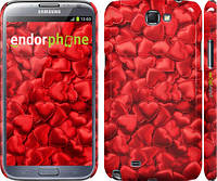 "Чехол на Samsung Galaxy Note 2 N7100 Атласные сердца ""737c-17"""