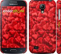 "Чехол на Samsung Galaxy S4 mini Duos GT i9192 Атласные сердца ""737c-63"""