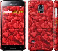 "Чехол на Samsung Galaxy S5 mini G800H Атласные сердца ""737c-44"""