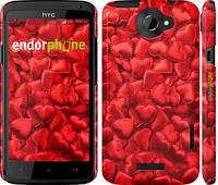 """Чехол на HTC One X Атласные сердца """"737c-42"""""""