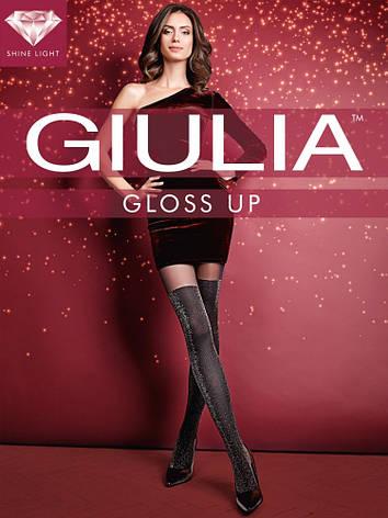 Фантазийные колготки имитация чулка с люрексом Giulia Gioss up 60 den, фото 2