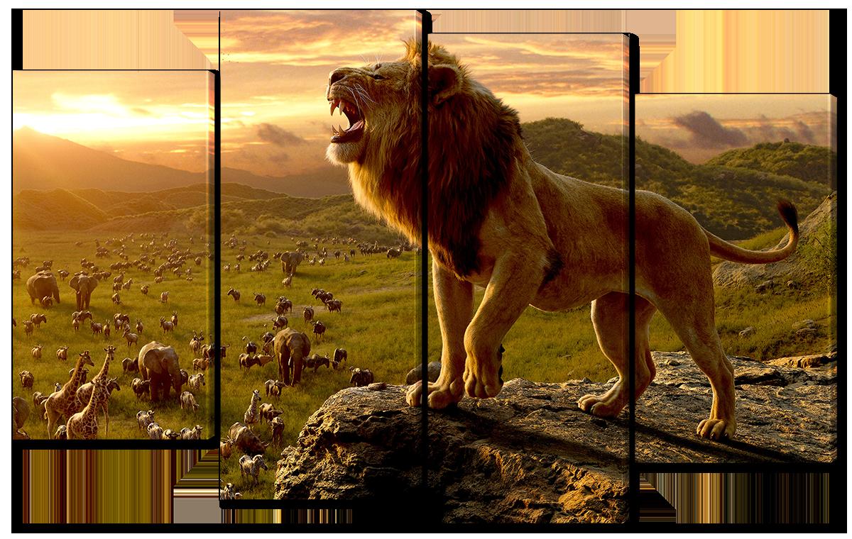 Модульная картина Interno Холст  Новый Король Лев  94x56см (R4501S)