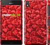 """Чехол на Sony Xperia Z3 dual D6633 Атласные сердца """"737c-59"""""""