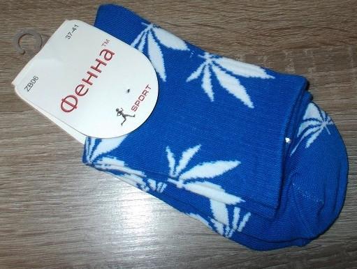 Носки женские высокие конопля размер 37-41 синие