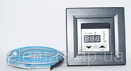 Антрацит Терморегулятор для теплого пола с дисплеем Schneider Asfora