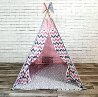 """Вигвам, детская палатка """"Розовые Звезды"""""""